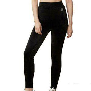 Fila Velour Mid-Waisted Leggings - Black - S